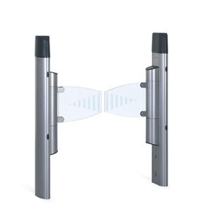 swing access gates / automatic / glass / for airports