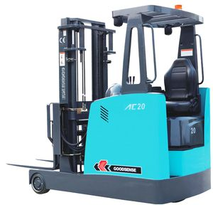 electric forklift / ride-on / 3-wheel / for airports