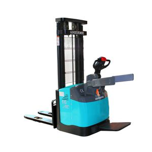 electric stacker truck / stand-on / for airports