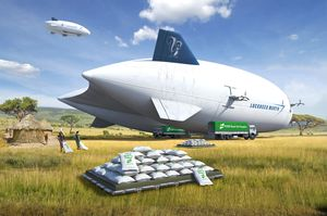 transportation airship / for cargo / gas / 0 - 10 Pers.