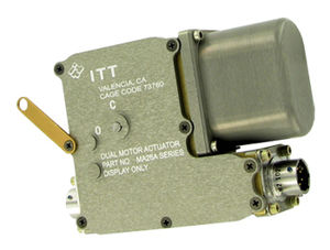 electric actuator / rotary / for aircraft / with position indicator