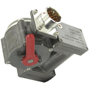 electric actuator / rotary / for aircraft / worm gear