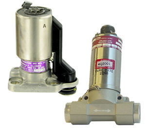 aircraft solenoid valve / for fuel / cartridge / rugged