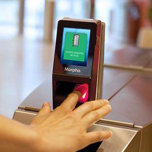 digital fingerprint reader with card reader / for airports