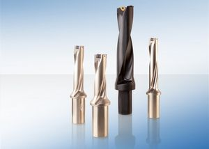 insert drill bit / for metals / for aeronautics / helical