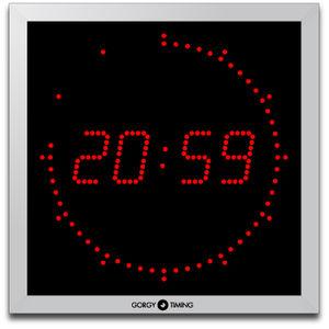 airport clock / digital / quartz