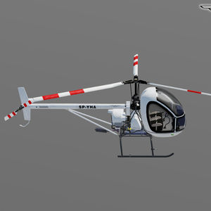 two-seater ultralight helicopter