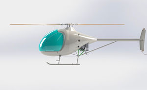two-seater ultralight helicopter / piston engine / single-rotor