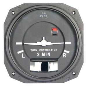 analog turn indicator / electric / illuminated / for aircraft