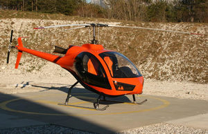 two-seater ultralight helicopter / transport / turboshaft / single-rotor