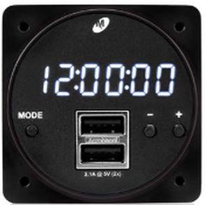aircraft clock / digital / quartz / with flight timer