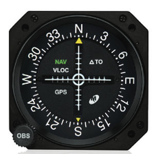 analog course deviation indicator / for aircrafts