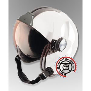helicopter helmet / half jet / with visor / with chin rest