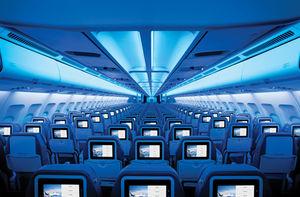 aircraft cabin lighting / LED / sidewall / mood