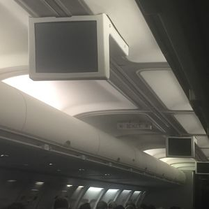 inflight entertainment aircraft cabin display