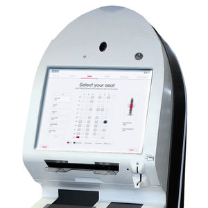 check-in kiosk with boarding pass reader / with CUSS / floor-standing / countertop