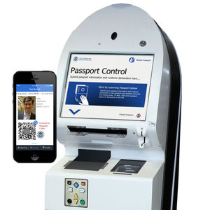 airport immigration e-gate / with fingerprint reader / with passport reader