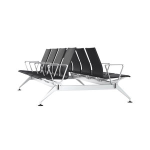 airport beam chairs / 8-person / leather / with armrests