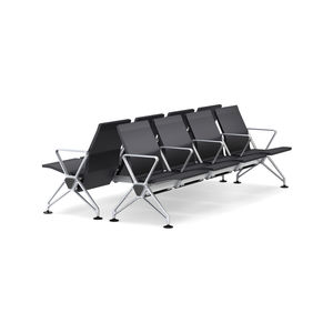 airport beam chairs / 8-person / leather / plastic