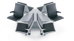 airport beam chairs / 8-person / metal / fabric