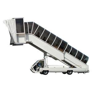 boarding stairs / mobile / self-propelled / with covered area