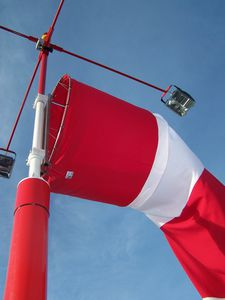 lighting mast / windsock / for weather stations / for airports