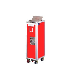 aircraft cabin waste trolley / floor-mounted / half-size / full-size