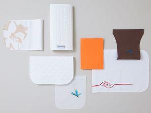 aircraft cabin headrest cover