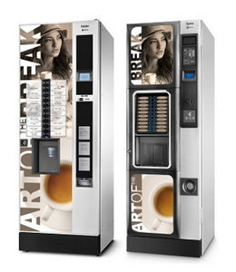 beverage vending machine / coffee / for airports