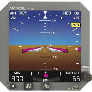 electronic attitude indicator / 5.4-inch / electrically-powered / LED backlight