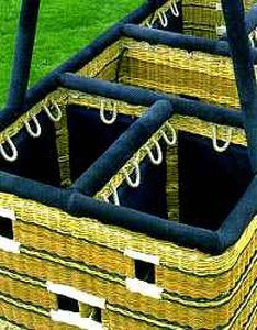 partitioned hot-air balloon basket