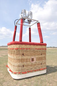 hot-air balloon basket with burner