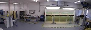 open paint booth / for the aerospace industry