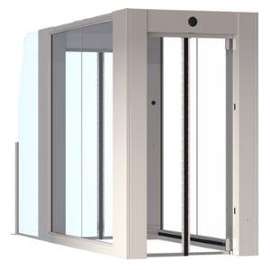 airport security interlocking door / for access control / non-return / automatic