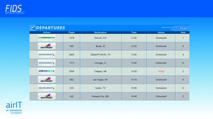 airport flight information display system