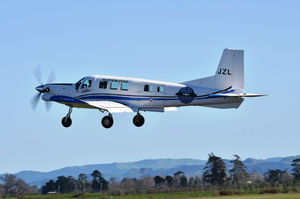 10-seater private plane / single-engine / turboprop / for skydiving
