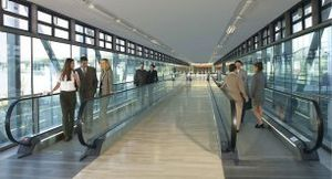 airport moving walkway / horizontal