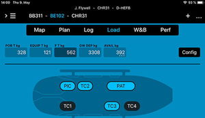 management software / weight and balance analyse / flight planning / on-board system programming