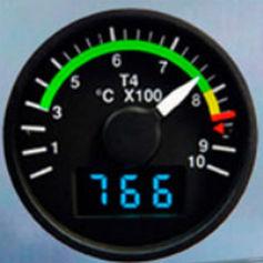 temperature gauge / analog / electronic / engine