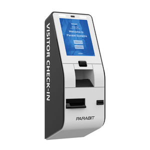 check-in kiosk with printer / with passport reader / with barcode reader / with boarding pass reader