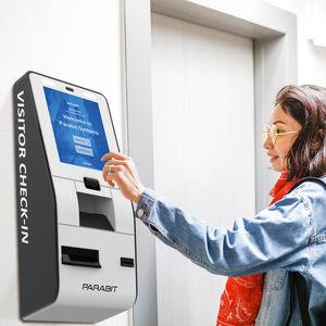 check-in kiosk with printer