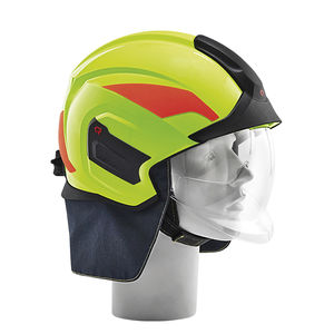 firefighter helmet / integral / with visor / protective