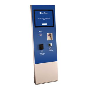 information interactive kiosk / for airports / with touch screen