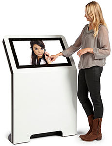 floor-standing queue kiosk