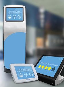 floor-standing customer satisfaction kiosk / countertop / for airports