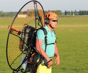 single-seat paramotor carts / with engine