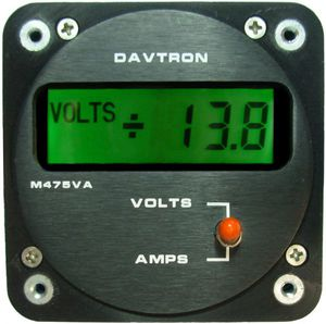 on-board voltmeter / DC / for aircraft
