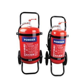 dry powder fire extinguisher / for airports / wheel-mounted