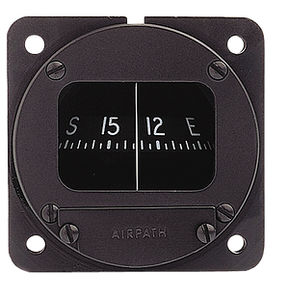 panel mount magnetic compass / for aircraft