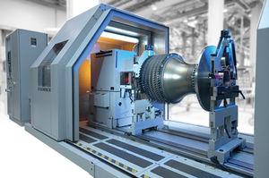 horizontal balancing machine / belt-driven / for aeronautics / modular